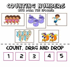 Interactive worksheet Numbers 1-5 Drag and Drop