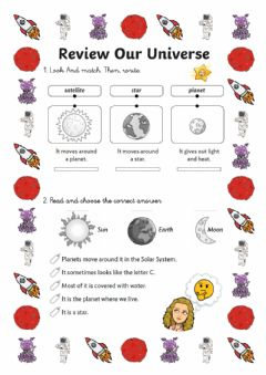 Interactive worksheet Review  Universe