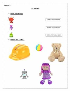 Interactive worksheet Let's play