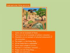 Interactive worksheet Unit 3 Ecosystems. Write yes or no