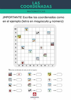 Interactive worksheet Las coordenadas