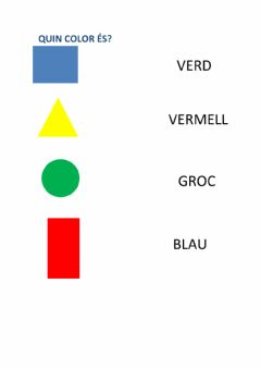 Interactive worksheet Quin color és