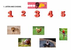 Interactive worksheet Animals body parts-listening and reading 2