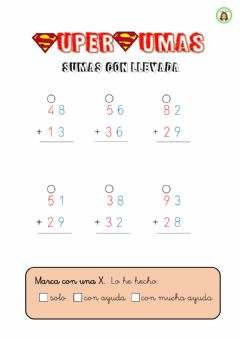 Interactive worksheet Sumas con llevada