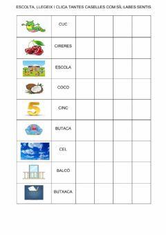 Interactive worksheet Sil·labes  1