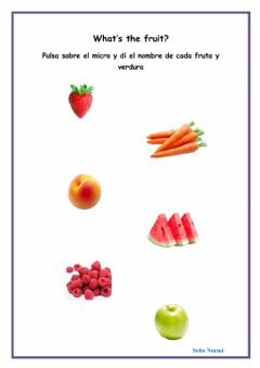 Ficha interactiva Fruits