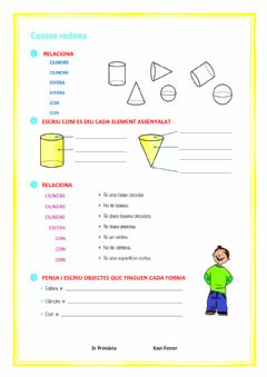 Interactive worksheet Cossos redons