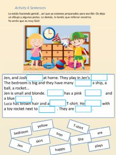 Interactive worksheet Fill in the gaps - sentences