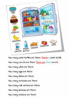 Interactive worksheet How many (food)