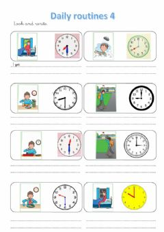Interactive worksheet Daily routines 4