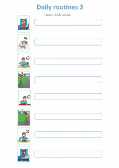 Interactive worksheet Daily routines 2