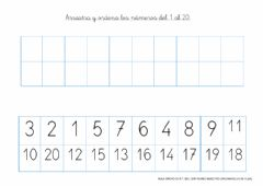 Interactive worksheet Numeración 1-20