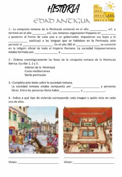 Interactive worksheet Edad Antigua - Roma