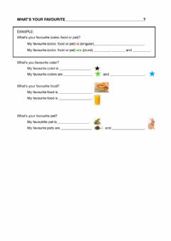 Interactive worksheet What's your favourite-------?