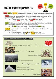 Interactive worksheet How to express quantity (3)