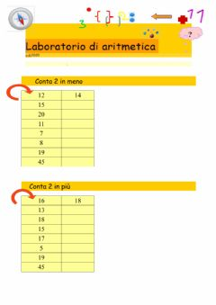 Interactive worksheet Conta 2 in meno e 2 in più
