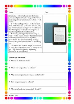 Interactive worksheet Electronic books Year 5