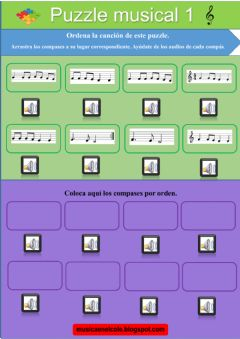 Interactive worksheet Puzzle musical 1