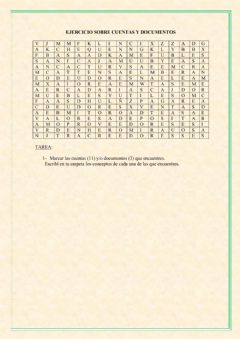Interactive worksheet Sopa de letras cuentas contables y documentos