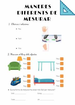 Interactive worksheet Maneres diferents de mesurar