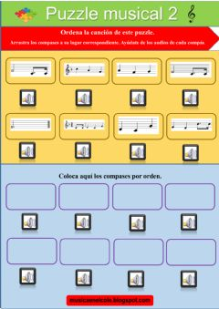 Interactive worksheet Puzzle musical 2