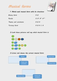 Interactive worksheet Musical forms