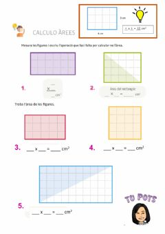 Interactive worksheet Àrees