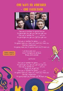 Interactive worksheet One direction song. filling gaps