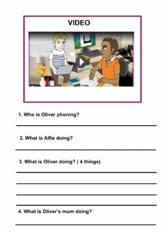 Interactive worksheet Present continuous comprehension