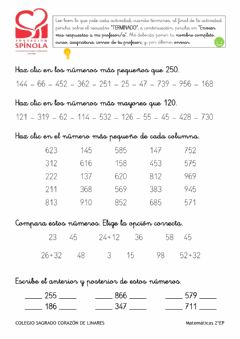 Interactive worksheet MATEMÁTICAS 6