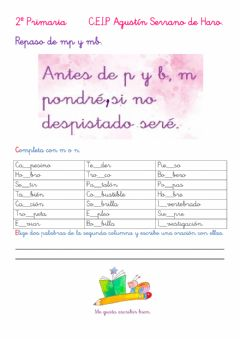 Interactive worksheet Ortografía mp y mb