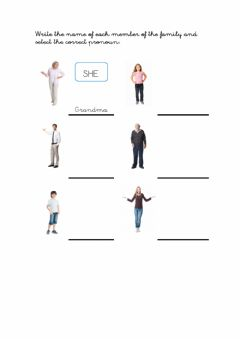 Interactive worksheet Family She or He