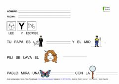 Interactive worksheet Frases letra p