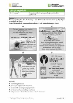 Interactive worksheet Egzamin osmoklasisty 6