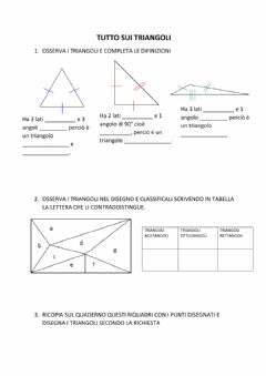 Interactive worksheet Tutto sui triangoli