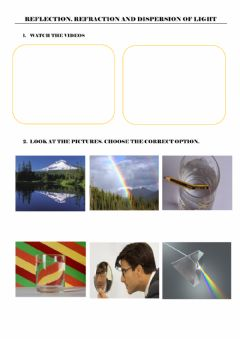 Ficha interactiva Refraction of light