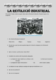 Interactive worksheet La Revolució Industrial