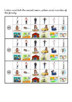 Interactive worksheet Family in the house