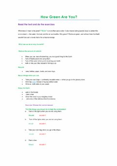 Interactive worksheet How Green Are You?