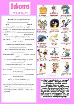 Interactive worksheet Idioms 1