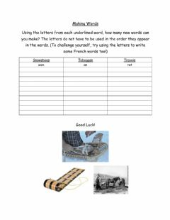 Interactive worksheet Making Words