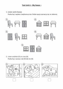 Interactive worksheet NEA 1 - Test unit 6 - My house