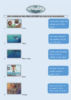 Interactive worksheet A Whale-s Tale- Drag and Drop