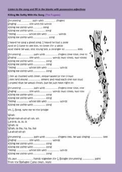 Interactive worksheet Listen to the song and fill in the blanks