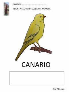 Interactive worksheet Canario