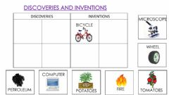 Interactive worksheet Discovries and inventions