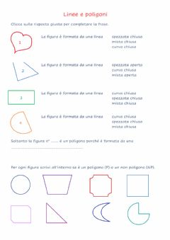 Interactive worksheet Linee e poligoni