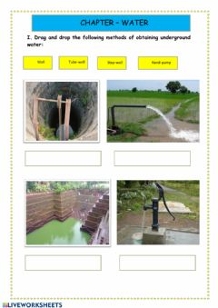 Interactive worksheet Water and methods of irrigation