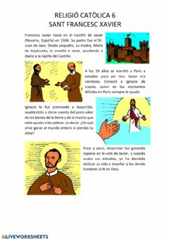 Interactive worksheet Religiò 6è 4