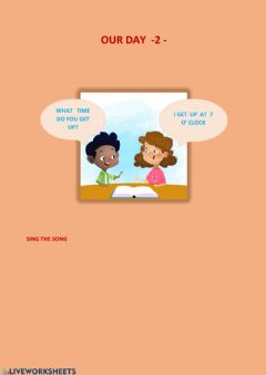 Interactive worksheet Our Day